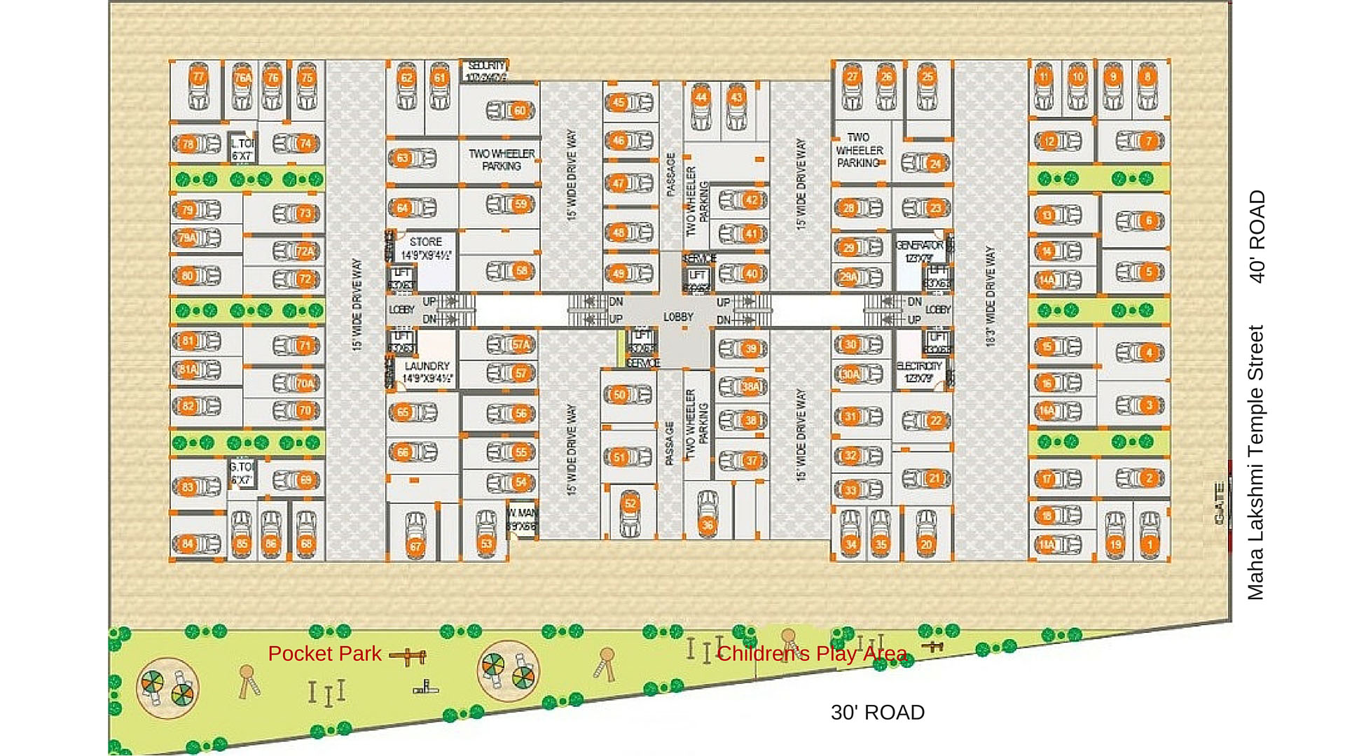 Oxygen Towers | Parking Plan - Spacious Covered Parking